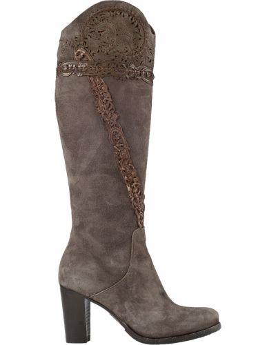 Кожаные сапоги - коричневые Laura Bellariva