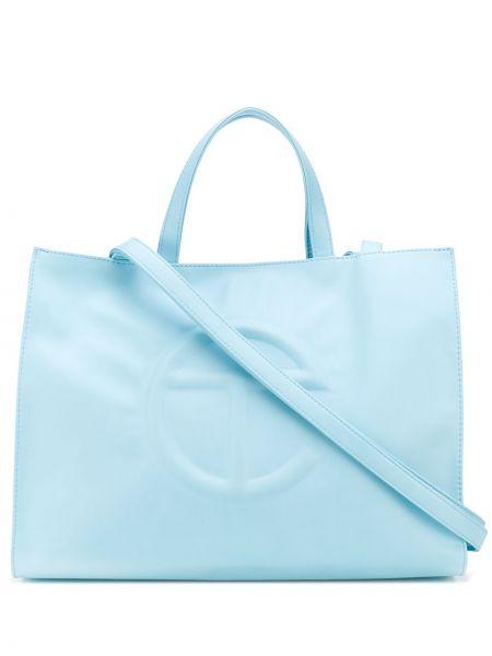 Niebieska torba na ramię na basen bawełniana Telfar