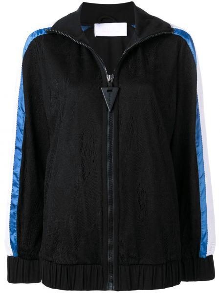 Нейлоновая черная спортивная куртка на молнии с манжетами No Ka 'oi