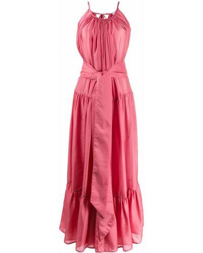 Плиссированное розовое платье макси Kalita