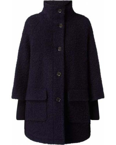 Niebieski płaszcz wełniany Comma