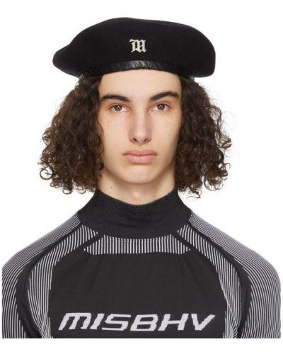 Czarny beret wełniany Misbhv
