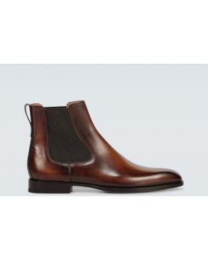 Кожаные ботинки челси - коричневые Berluti