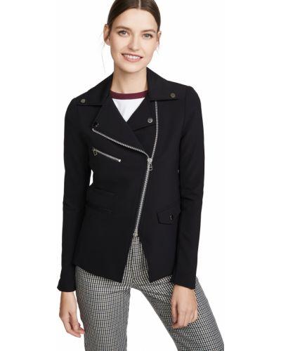 Черная длинная куртка с подкладкой с длинными рукавами Veronica Beard