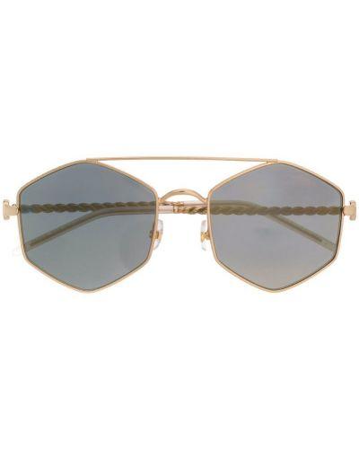 Солнцезащитные очки темный с логотипом Elie Saab