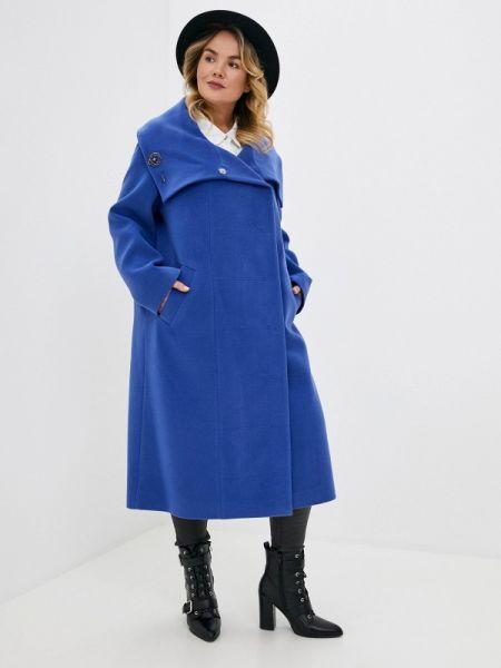 Фиолетовое зимнее пальто с капюшоном Gamelia