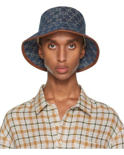 Biała czapka bawełniana Gucci