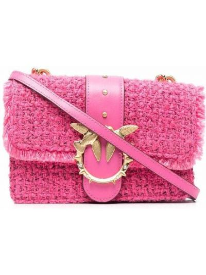 Сумка через плечо с карманами - розовая Pinko