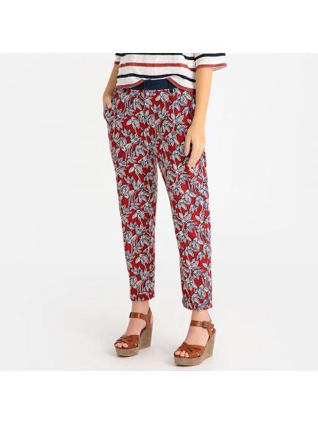 Коричневые брюки дудочки с рисунком с поясом узкого кроя Harris Wilson