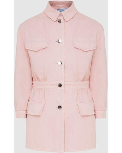 Розовая джинсовая куртка Prada