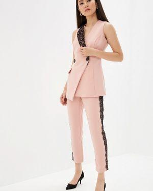Брючный костюм розовый турецкий Joymiss