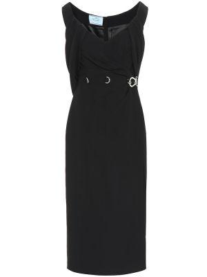Платье классическое - черное Prada
