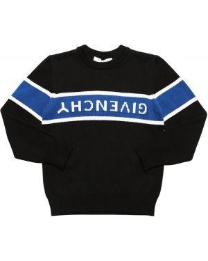Prążkowany czarny sweter bawełniany Givenchy
