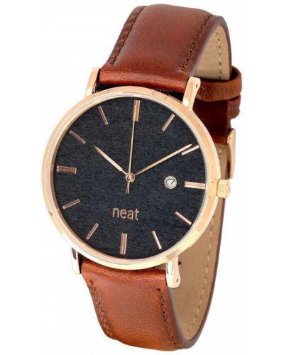 Złoty zegarek kwarcowy Neat