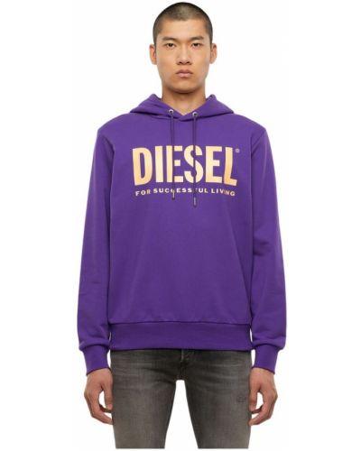 Fioletowa bluza z kapturem Diesel