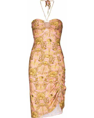 Платье мини с открытой спиной - розовое Adriana Degreas