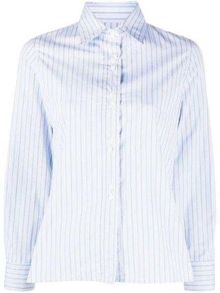 Классическая рубашка с воротником с манжетами на пуговицах с нашивками Maison Margiela