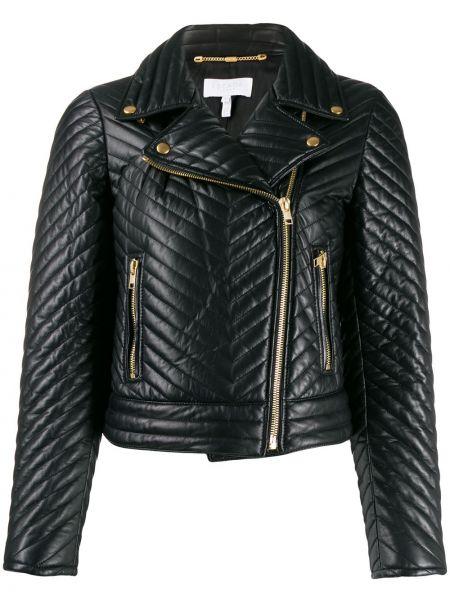 Кожаная куртка на молнии - черная Escada Sport