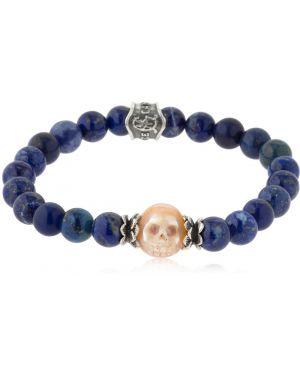 Niebieska bransoletka perły srebrna Cantini Mc Firenze