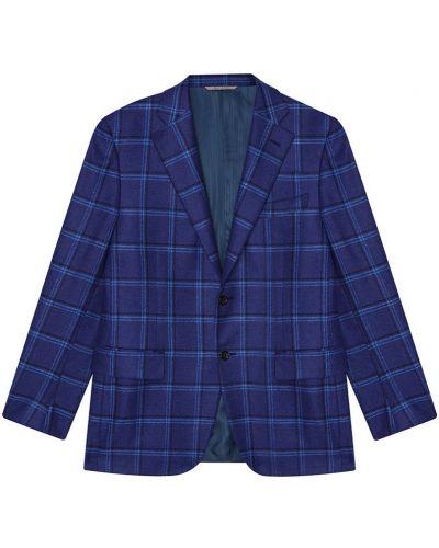 Пиджак в клетку с карманами Canali
