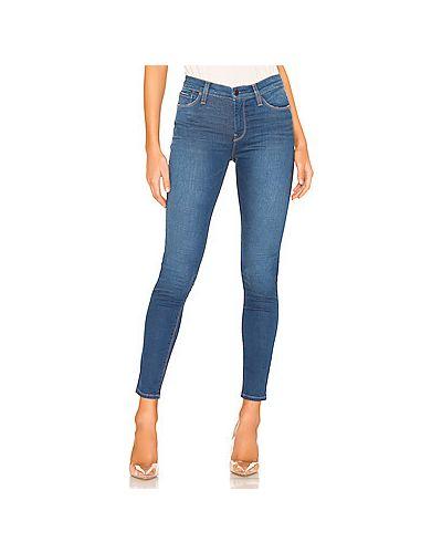 Джинсы-скинни mom синие Hudson Jeans