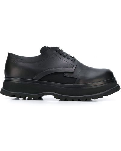 Черные кожаные туфли на шнурках Artselab