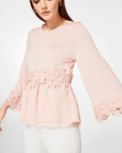 Розовая блузка с рюшами Pedro Del Hierro