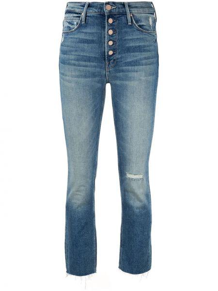 Укороченные джинсы скинни синие Mother