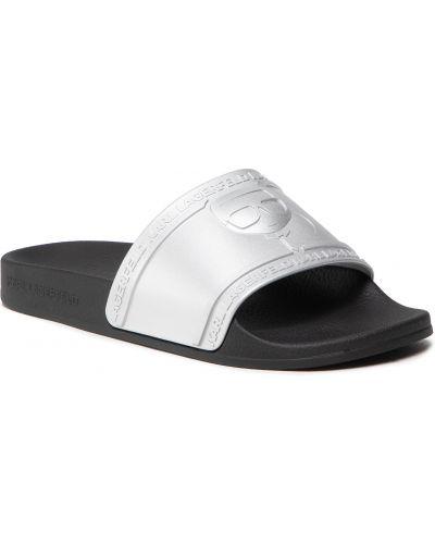 Sandały srebrne Karl Lagerfeld
