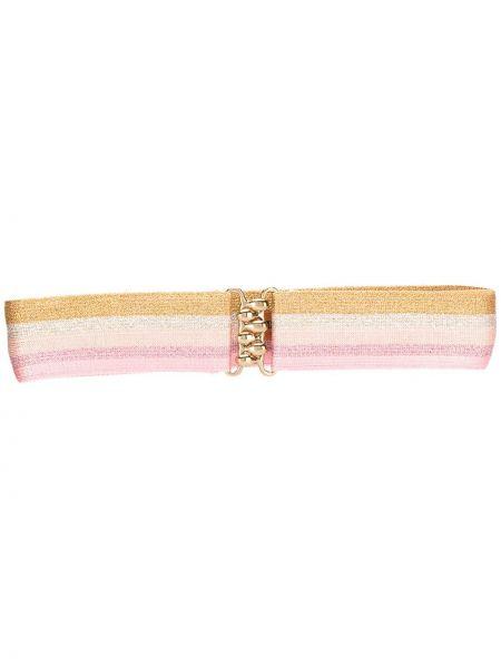 Розовый ремень металлический с пряжкой с поясом Missoni