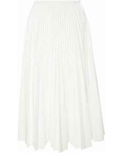 Плиссированная юбка миди в складку Fendi