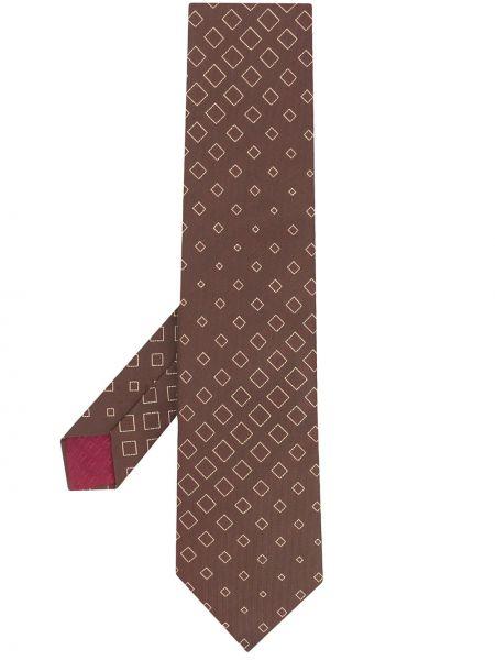 Jedwab krawat z diamentem Hermes