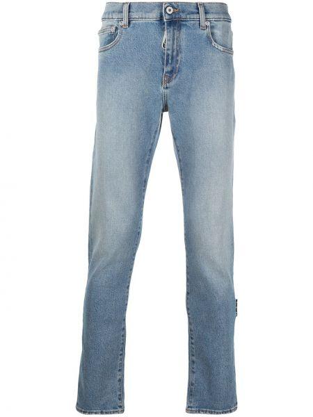 Bawełna bawełna zawężony obcisłe dżinsy z kieszeniami Off-white
