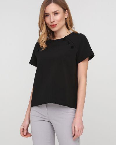 Черная блузка с вырезом круглая Frnch