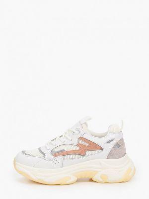 Бежевые кожаные кроссовки Abricot