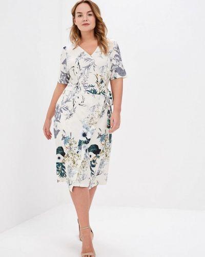 Платье весеннее бежевое Ulla Popken