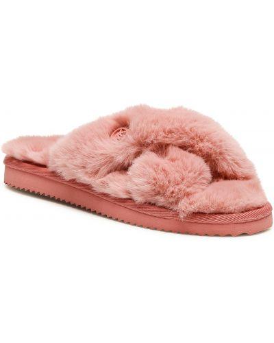 Kapcie z futerkiem - różowe Michael Michael Kors