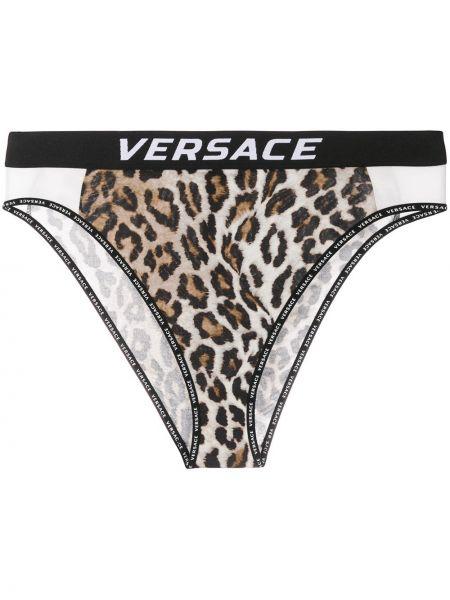 Трусы леопардовые коричневый Versace