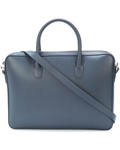 Портфель кожаный синий Mansur Gavriel