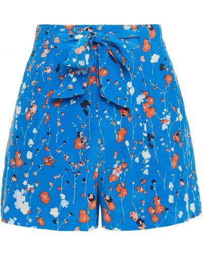 Синие шелковые шорты с карманами Equipment