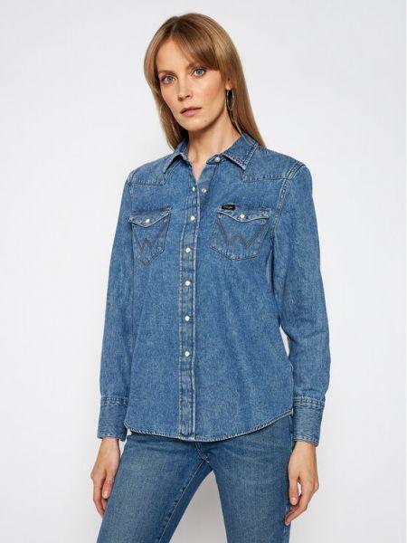 Koszula jeansowa - niebieska Wrangler