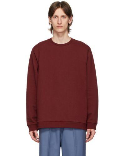 С рукавами красный свитер с воротником с манжетами Camiel Fortgens