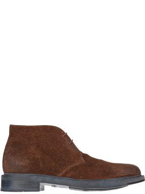 Кожаные ботинки - коричневые Santoni