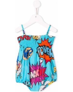 Sukienka bez rękawów prosto bawełna Dolce & Gabbana Kids