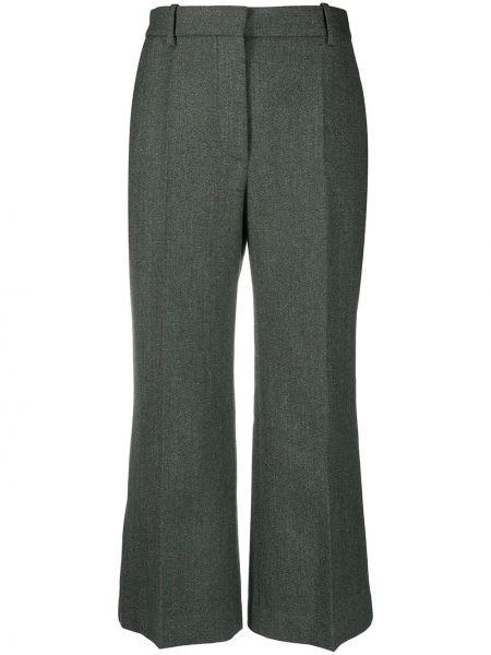 Шерстяные с завышенной талией укороченные брюки с карманами Victoria Beckham