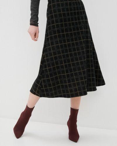 Черная юбка свободного кроя Zabaione