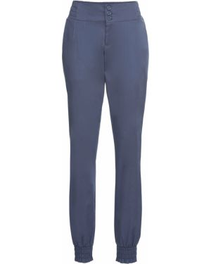 Свободные брюки со складками с пайетками Bonprix