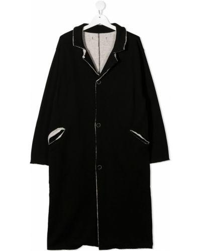 Czarny płaszcz bawełniany z długimi rękawami Little Creative Factory Kids