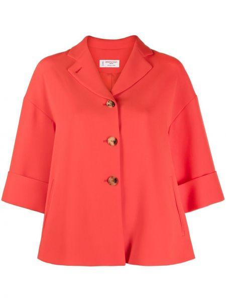 Красный пиджак с короткими рукавами с воротником Alberto Biani