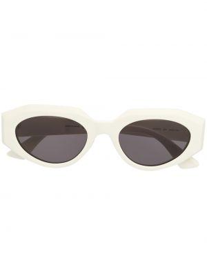 Золотистые белые солнцезащитные очки Bottega Veneta Eyewear